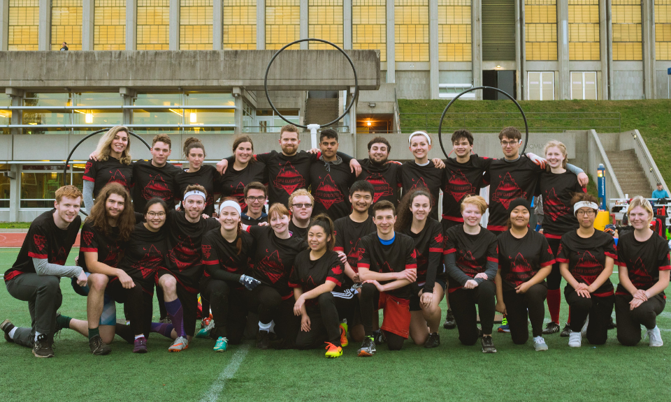 SFU Quidditch team photo