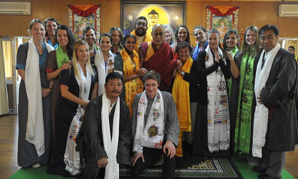 ITEM students with Dalai Lama